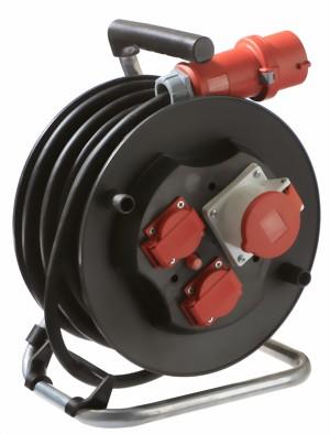 cee sicherheits kabeltrommel schutzklasse ip 44 f r baustelle industrie 25 m kunststoffgeh use. Black Bedroom Furniture Sets. Home Design Ideas