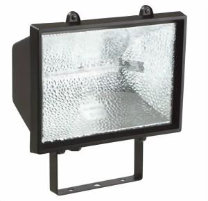 halogenstrahler schutzklasse ip 44 f r au enbereich 400 w 1000 w oder 1500 w schwarz mit 2 m. Black Bedroom Furniture Sets. Home Design Ideas